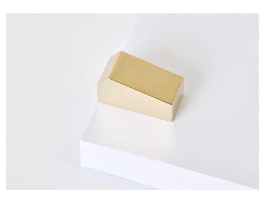 wuu 手工制作立体几何黄铜纸镇